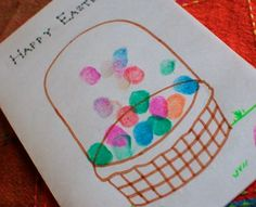 Finger print eggs!