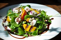 Grilled Peach and Goat's Cheese Salad