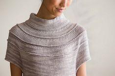 Ravelry: Ruched Yoke Sweater pattern by Carol Feller