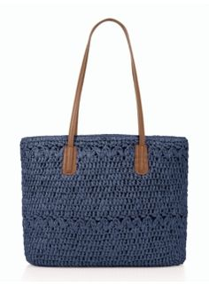 Browse our modern classic selection of women's clothing, jewelry, accessories and shoes. Talbots offers apparel in misses, petite, plus size and plus size petite. Hobbies For Women, Straw Tote, Knitted Bags, Crochet Bags, Paper Straws, Handmade Bags, Clutch Purse, Purses, Clothes For Women