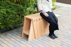 AA stool (Torafu Architects, 2012): a pair of stools which can be arranged with one another to create a single unit.