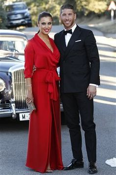 Ramos and Pilar at Rene wedding ❤️ Wife And Girlfriend, Bridesmaid Dresses, Wedding Dresses, Dress Codes, Football Players, Girlfriends, Handsome, The Incredibles, Glamour