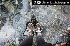 "#Repost @clementd_photographe  ""Les pieds pas dans l'eau"" #vans #river #montain #travel #hike #reflection #rock #water #freshairclub #pyrenees #neouvielle  #BallonetSocks #london #sockgame #ballonet #socks"