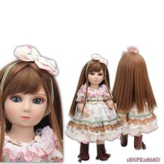 74.69$  Watch here - http://alikyg.worldwells.pw/go.php?t=32598674181 - New 1/4 (45CM)18 inches SD/BJD Girl Doll Moving Joint Body Princess Long Hair Beauty Girl Dolls Toys Gift  Girl Free Shipping