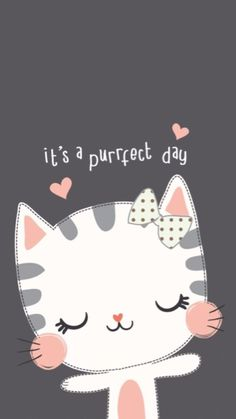 Ideas For Cats Wallpaper Iphone Wallpapers Backgrounds - Kawaii wallpaper - Katzen Cat Wallpaper, Kawaii Wallpaper, Wallpaper Backgrounds, Iphone Wallpapers, Iphone Backgrounds, Cat Party, Cat Drawing, Cute Cartoon Wallpapers, Cute Illustration