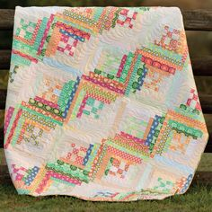 Get a preview of new Martingale books coming to your local quilt shop soon! First up: Seems Like Scrappy, the sequel to Rebecca Silbaugh's debut best-seller. Isn't this Log Cabin quilt from the book dreamy?