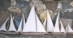 driftwood sailboats - this is a definite project I will be trying.  They just look so cool on a mantel. or window sill.