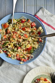 "raw cauliflower ""couscous"" salad - the novice housewife"