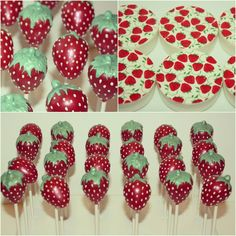 Fresa cake pop