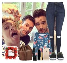 """""""Hanging out with Ryan Liam and Niall"""" by sychie ❤ liked on Polyvore featuring Topshop, Converse, Chanel and Whistles"""