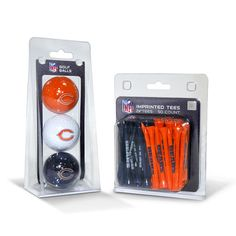 Chicago Bears 3 Ball Pack and 50 Tee Pack #ChicagoBears