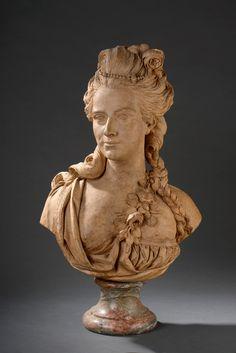 Charles Louis #CORBET# ( 1758 - 1808 ) Jeune femme Buste en terre cuite. Vendu 16 250€ le 14 novembre 2014
