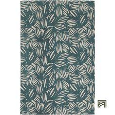 alinea :  noua tapis en coton motif feuillage vert 120x170cm     - #Alinea #Décoration #Deco #Tapis #Vert #Coton