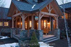 timber frame porch columns
