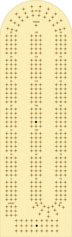 Satisfactory image in printable cribbage board