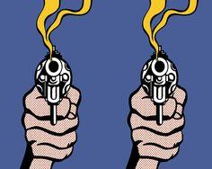 lichtenstein artwork gun - Google Search