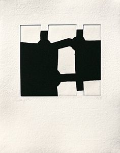 Eduardo Chillida from Aromas, Etching and aquatint. Plate size: H x W. Sheet size: H x W. Edition of 160 copies. Abstract Sculpture, Abstract Art, Painting Collage, Paintings, Black White Art, Art Abstrait, Printmaking, Amazing Art, Signs