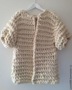 Купить Кардиган из толстой пряжи - белый, объемный кардиган ... Chunky Cardigan, Wool Cardigan, Diy Crochet, Crochet Hats, Super Chunky Wool, Knit Jacket, Ear Warmers, Christmas Sale, Wool Coat