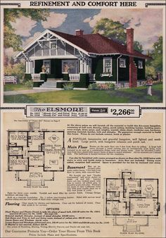 CURB APPEAL – another great example of beautiful design. 1923 Sears Modern Home - Elsmore