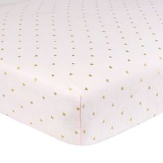 Just Born® Sparkle Heart Fitted Crib Sheet in Pink