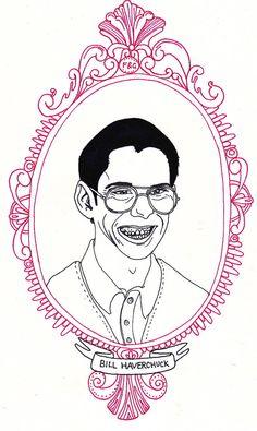 Bill Haverchuck A5 cardstock art print - Freaks and Geeks