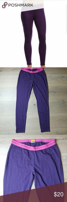 Icebreaker Marino 200 pants leggings Pre owned in good condition has normal wear. Perfect to wear under ski snow pants. Icebreaker Pants