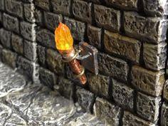 Wall Mod Tutorial - Flickering Torch w/ Tea Light - Dwarven Forge