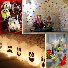 Another awesome idea for jugs and those who love Halloween....Milk jugs Recycling  #recycle #crafts