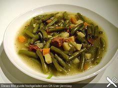 Grüne Bohnen - Suppe, ein raffiniertes Rezept aus der Kategorie Eintopf.