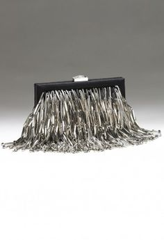 Camille La Vie fringe clutch evening bag designed by Sondra Roberts