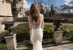 The combination of beaded illusion and scallop embroidery with crystal detailing ensures that @bertabridal  Style 15-107 will have brides sparkling on their big day. via #StrictlyWeddings