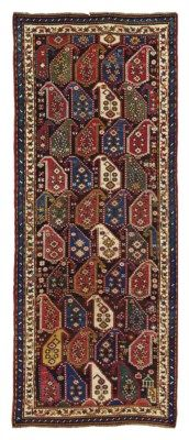 KARABAGH RUNNER  SOUTH CAUCASUS, CIRCA 1900  Approximately 10 ft. 6 in. x 4 ft. 4 in. (320 cm. x 132 cm.)
