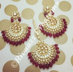 Indian Jewelry Earrings, Indian Jewelry Sets, Jewelry Design Earrings, Indian Wedding Jewelry, Bridal Jewelry, Jewelery, India Jewelry, Ear Jewelry, Silver Jewelry