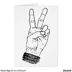 Peace Sign Greeting Card  Available on many more products! Just type in the name of the design in the search bar on my Zazzle products page to see them all!  #card #greeting #letter #invitation #friend #family #get #in #touch #contact #mail #mailing #peace #sign #hand #symbol #sign #fingers