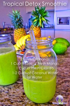 Also really good with fresh pineapple instead of the mango, annd soome cinnamon. Cilantro cleanses heavy metals.