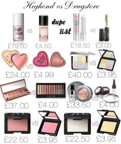 High end vs Drugstore? A Dupe List