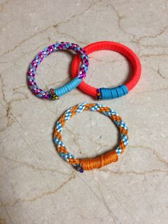 Silk string bracelets