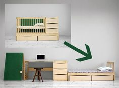 "Think of Andensen Furniture's ""Smart Kid"" as a child's bedroom-in-a-box, except that in this instance, the box also happens to be the crib"