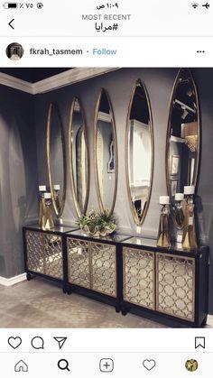 New Home Decore Ideas hallway decorating Mirror Decor Living Room, Home Decor Bedroom, Entryway Decor, Foyer, Hallway Decorations, Glam Bedroom, Bedroom Small, Pintura Patina, Home Decor Furniture