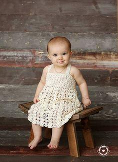 6-12M Dress Crocheted Dress Lace Dress by PaturiciPentruPitici