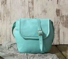 Купить Сумка кожаная мятная - Мазурка - сумка, женская сумка, сумка на цепочке, мятный