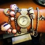 Too many #bracelets... #pandora#seksy#silver#pink#wrist#watch