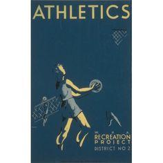 Hazlett WPA Athletics 1939 Canvas Art - (24 x 36)
