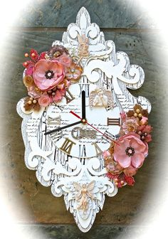 Simply Paper's Gallery: Dusty Attic Clock (using Something Tattered Stamps)