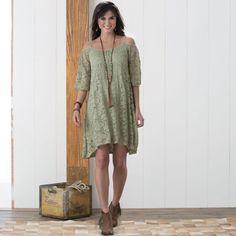 Fields of Green Lace Dress