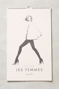 Les Femmes 2015 Calendar - anthropologie.com #anthrofave