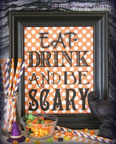 Halloween party printables, free.