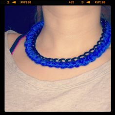 Handmade blue royal necklace