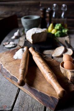 Hand turned ash wood rolling pins