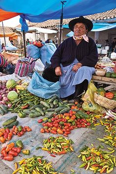 Chiles on sale at a market in Cochabamba.  BOLIVIA